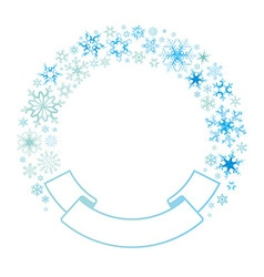 border and ribbon from colored snowflakes vector image vector image