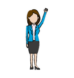 Business woman politician character standing vector