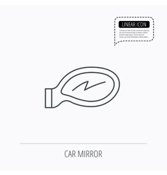 Car mirror icon Driveway side view sign vector image vector image
