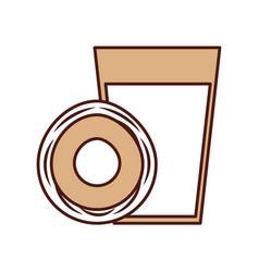 Coconut juice tropical fruit beverage vector