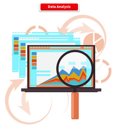 Concept Analysis and Data Analytics vector image vector image