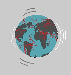 Earthquake earth destruction disaster fracture of vector