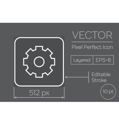 Gear pixel perfect icon vector
