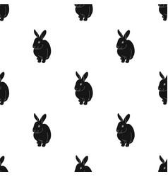 gray rabbitanimals single icon in black style vector image vector image
