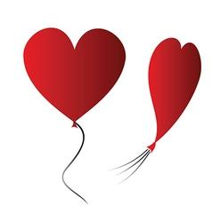 Heart balloon vector image vector image