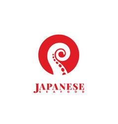 japanese seafood logo vector image vector image