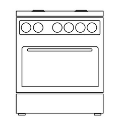Kitchen stove the black color icon vector