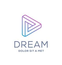 Letter d arrow logo icon design template elements vector