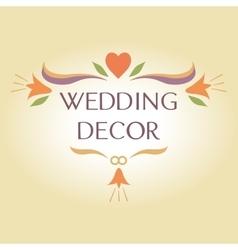 Organization of weddings decor floral interior vector image vector image