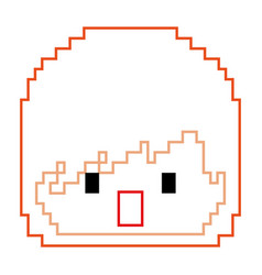 pixelated face boy video game avatar vector image