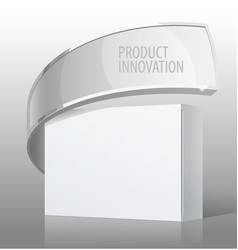 realistic white package cardboard box for vector image