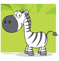 Smiling Zebra Character With Background vector image
