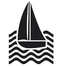 stylized yacht-sailboat vector image