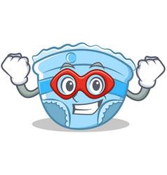 Super hero baby diaper character cartoon vector