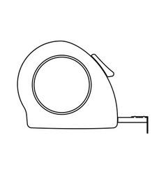 Tape measure black color icon vector