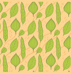 trendy spring design with leaves vector image vector image