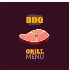 Vintage retro BBQ logo vector image