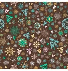 Vintage xmas pattern vector image vector image