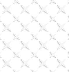 White small and big stars seamless pattern vector image vector image
