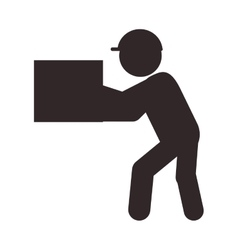 Man with box icon vector