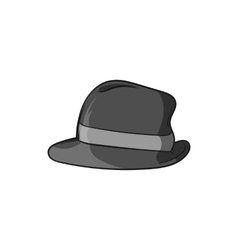 Mens hat icon black monochrome style vector