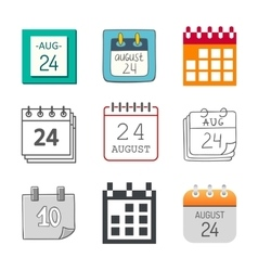 Calendar icon isolated vector