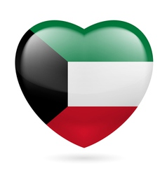 Heart icon of kuwait vector