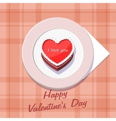 Valentine in the form of a cake on vector