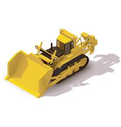 isometric mining bulldozer vector image