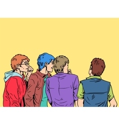 Fashion teens boys vector