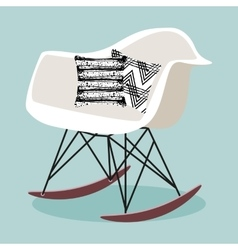 With rocking chair vector