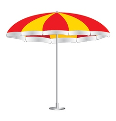 Beach umbrella isolated on white background red vector