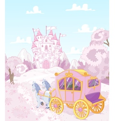 Princess carriage back to kingdom vector