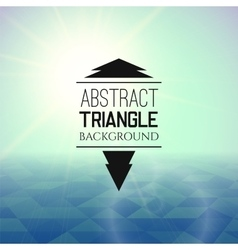 Abstract green sunset with blue triangle field vector