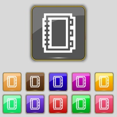 Book icon sign Set with eleven colored buttons for vector image vector image