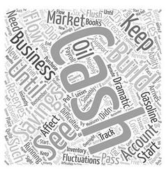 Building a cash cushion word cloud concept vector