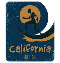california surfing poster vector image