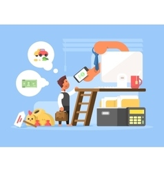 Career flat concept vector image