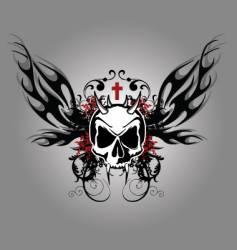 Darkness skull vector