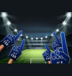 fans on the stadium vector image