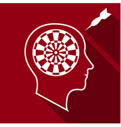 Great brain icon flat style vector