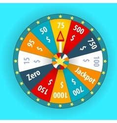 Happy colorful wheel of fortune vector image vector image