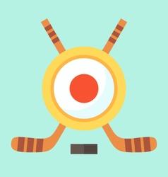 Hockey in Japan vector image