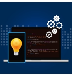 mobile application programming language code smart vector image vector image