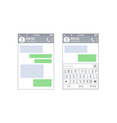mobile ui kit messenger chat app design vector image vector image