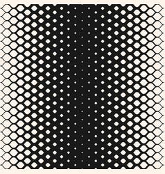 Monochrome geometric halftone seamless pattern vector