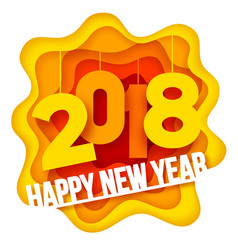 New year paper art vector