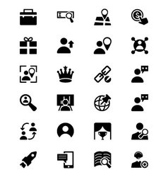 Online marketing icons 5 vector
