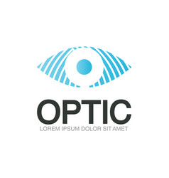 optic logo template vector image