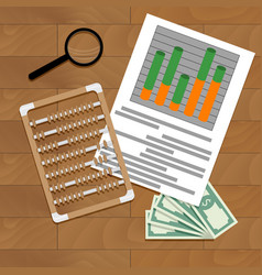 Paperwork report economy vector